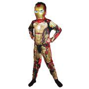 Fantasia Iron Man 3 Homem de Ferro dourado Luxo - Infantil