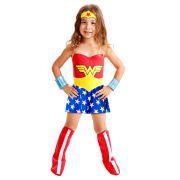 Fantasia Mulher Maravilha Standard - Infantil