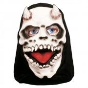 Máscara Caveira Com Chifre Com Capuz