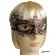 Máscara de Carnaval Sinfonia cor Cobre com Strass - Adulto
