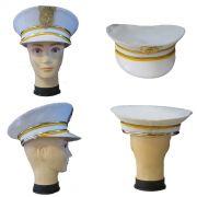Quepe Branco de Comandante da Marinha - Adulto