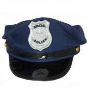 Quepe Policial Azul Adulto