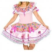 Vestido Caipira Diamante Festa Junina - Infantil