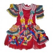 Vestido Caipira Dorinha Festa Junina - Infantil