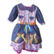 Vestido Caipira Poa Infantil