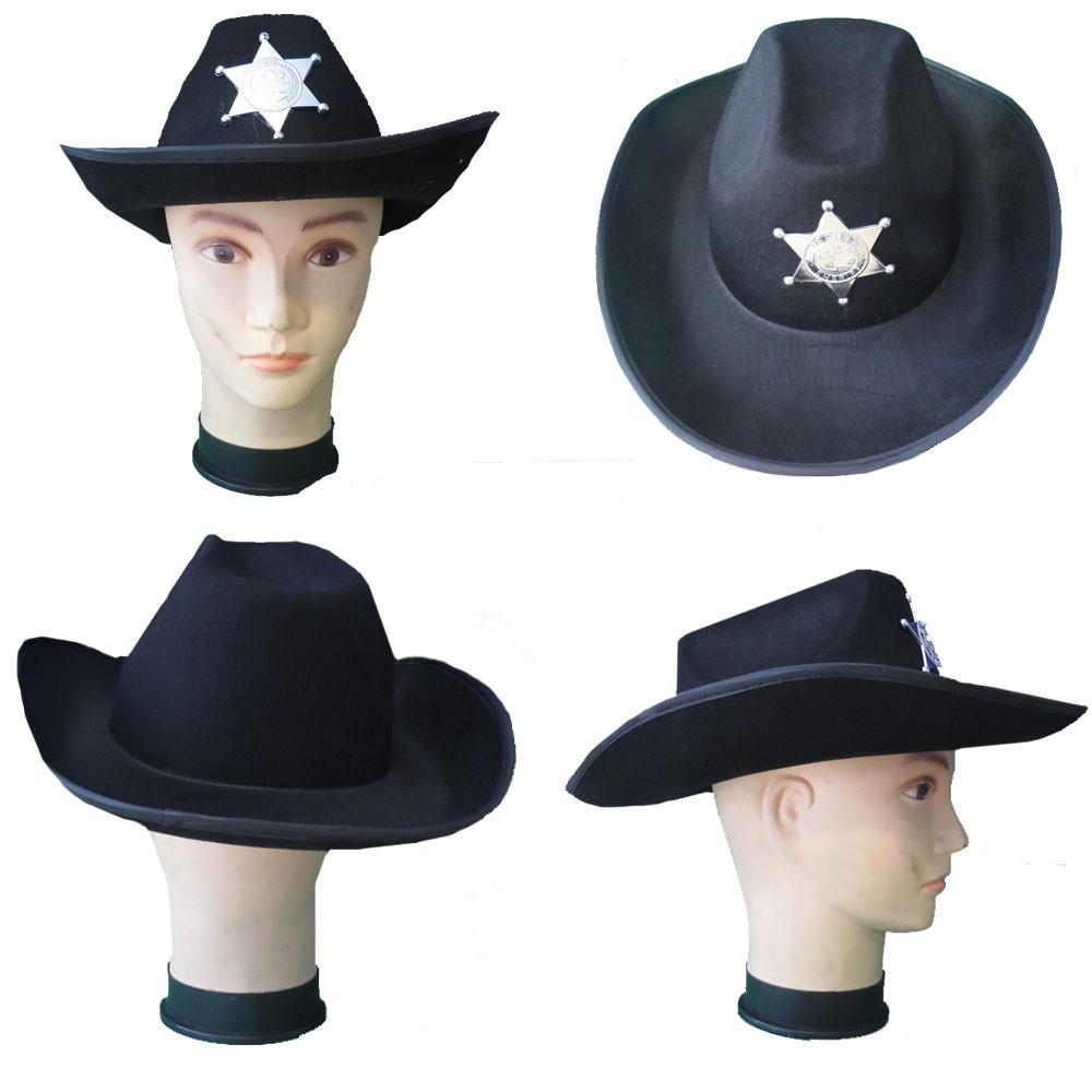 ... Chapéu Country com Estrela de Xerife em Feltro - Kitok Festas e  Fantasias 84f819ee41a