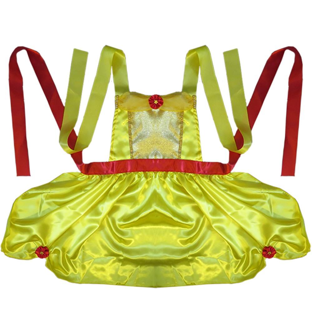 Fantasia Avental Bela Amarela - Adulto