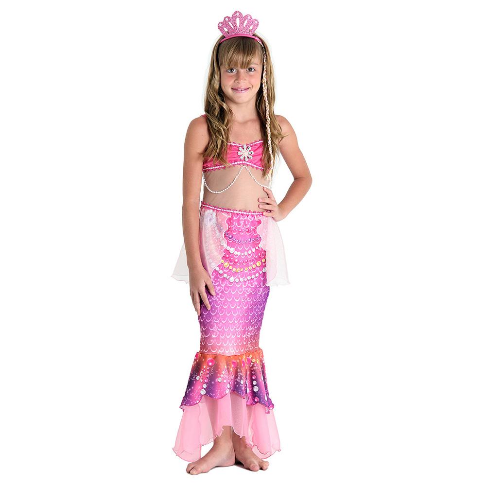 Fantasia Barbie Sereia das Pérolas Luxo - Infantil