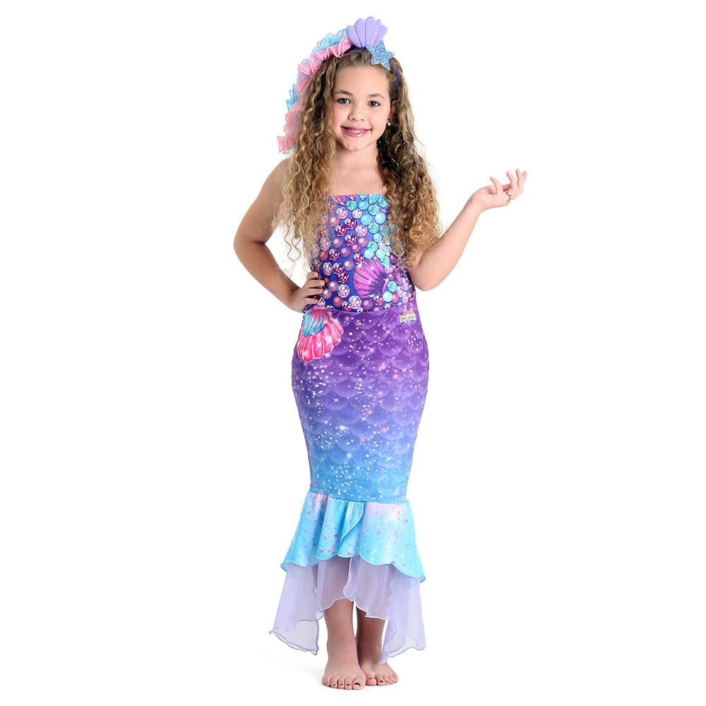Fantasia Barbie Sereia Secret Door Premiun - Infantil