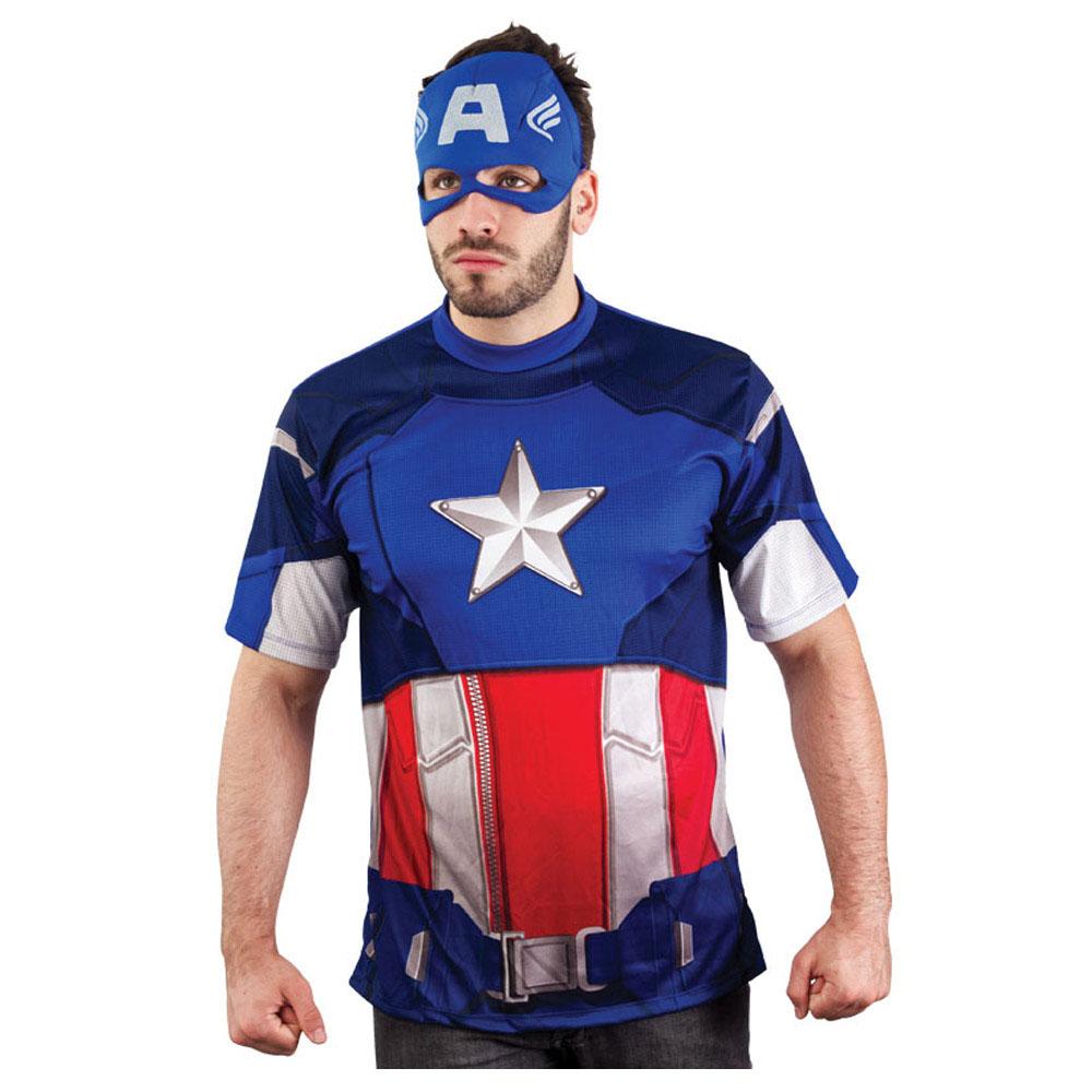 Fantasia Capitão América casual - Adulto
