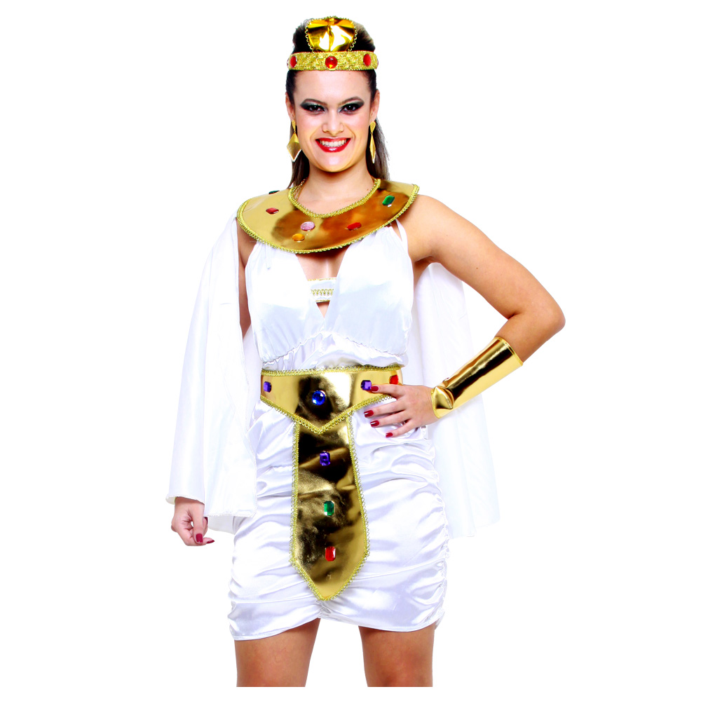 Fantasia Cleópatra Rainha do Egito Vestido - Adulto