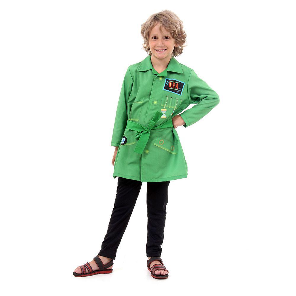 Fantasia Detetive Do Predio Azul - Verde Pop Infantil