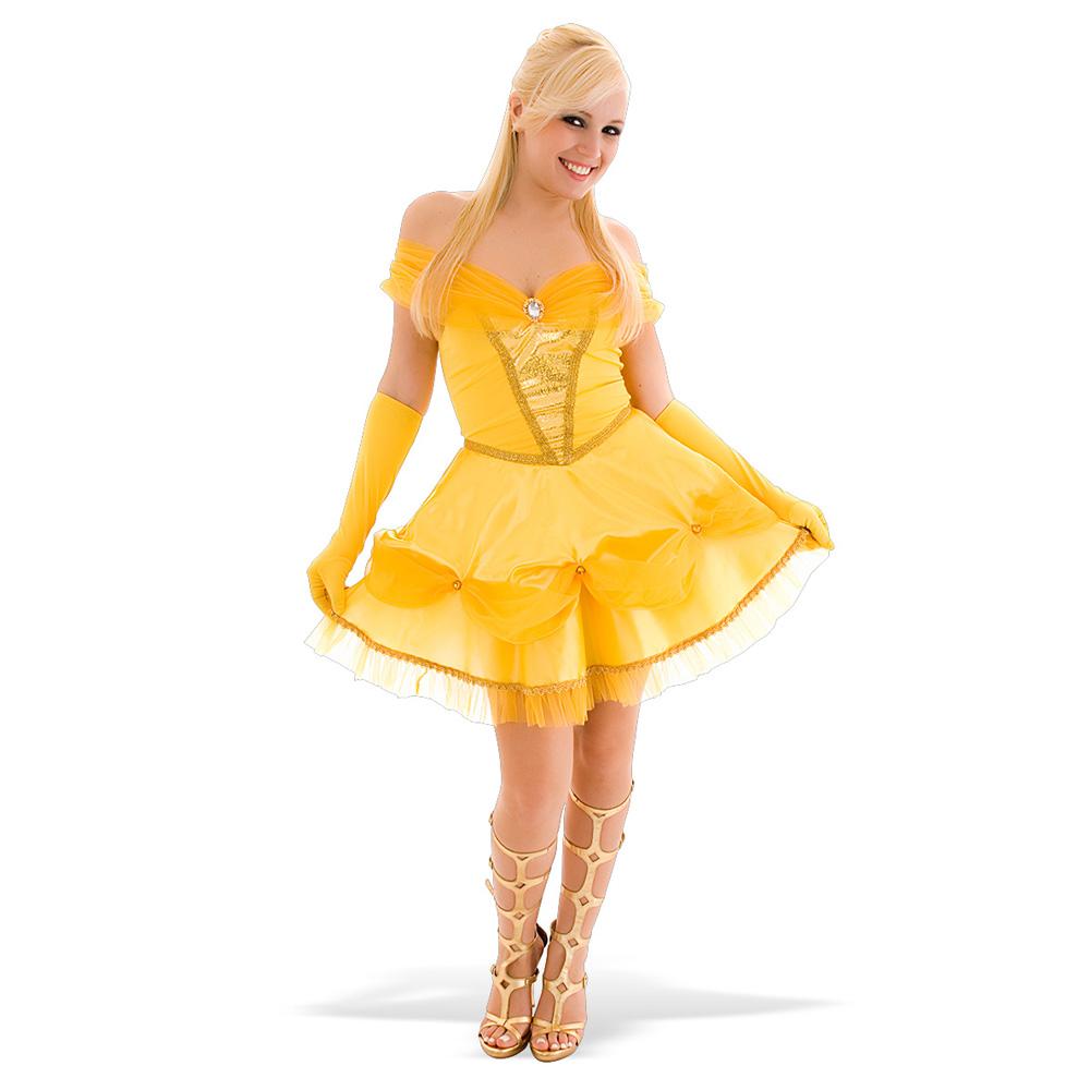 Fantasia Princesa Bela Dourada - Adulto