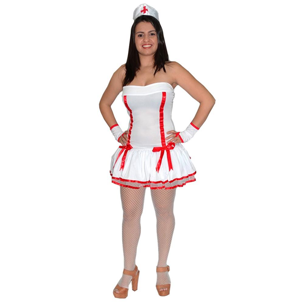 Fantasia Enfermeira Frente Única - Adulto