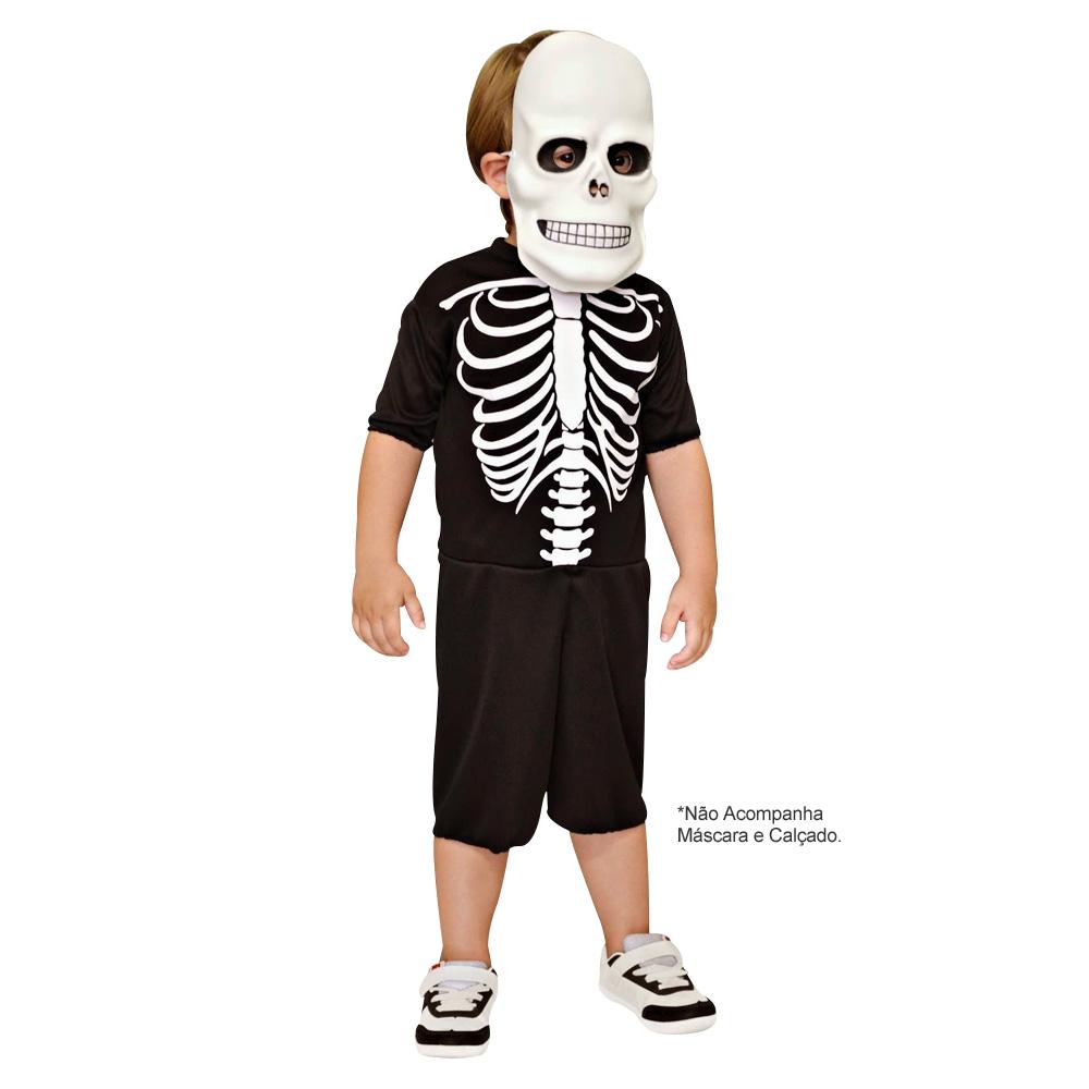 Fantasia Esqueleto Curto - Infantil