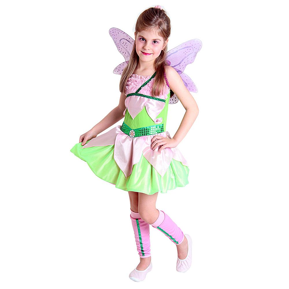 Fantasia Fada Winx Verde Flora - Infantil