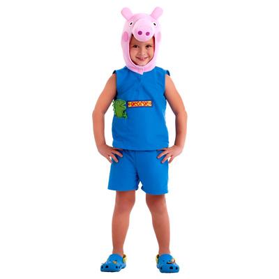 Fantasia George Pig irmão da Peppa - Modelo Licenciado - Infantil