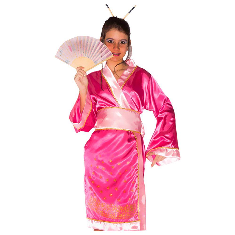 6c094fe76 Fantasia Gueixa Japonesa Yoko Infantil - Kitok Festas e Fantasias ...