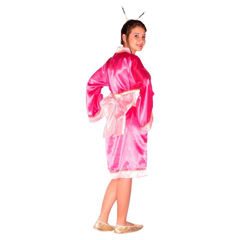 583a1f9dd ... Fantasia Gueixa Japonesa Yoko Infantil - Kitok Festas e Fantasias ...