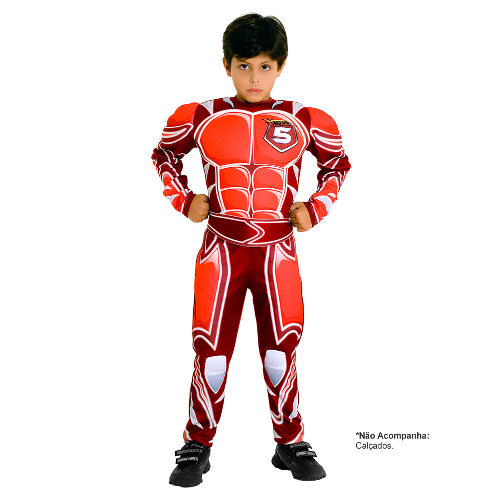 Fantasia Hot Wheels Luxo Battle Force 5 - Infantil
