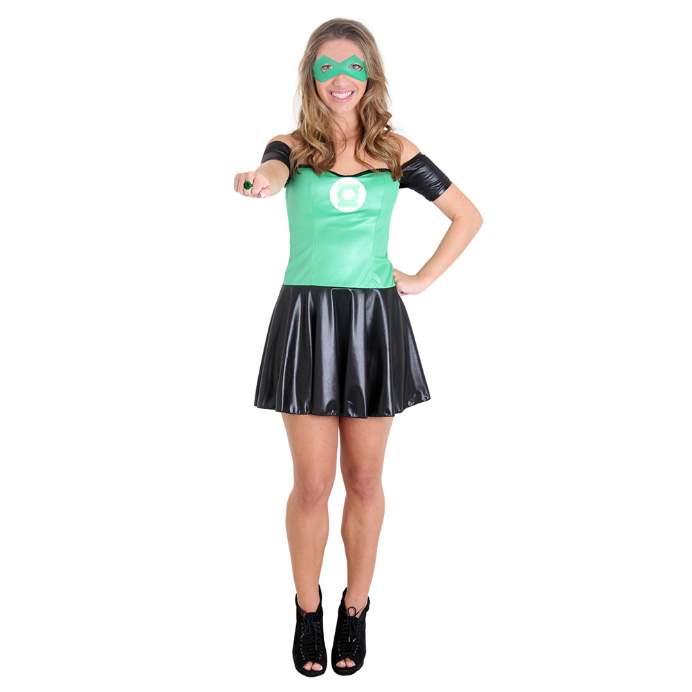 Fantasia Lanterna Verde Feminino - Adulto