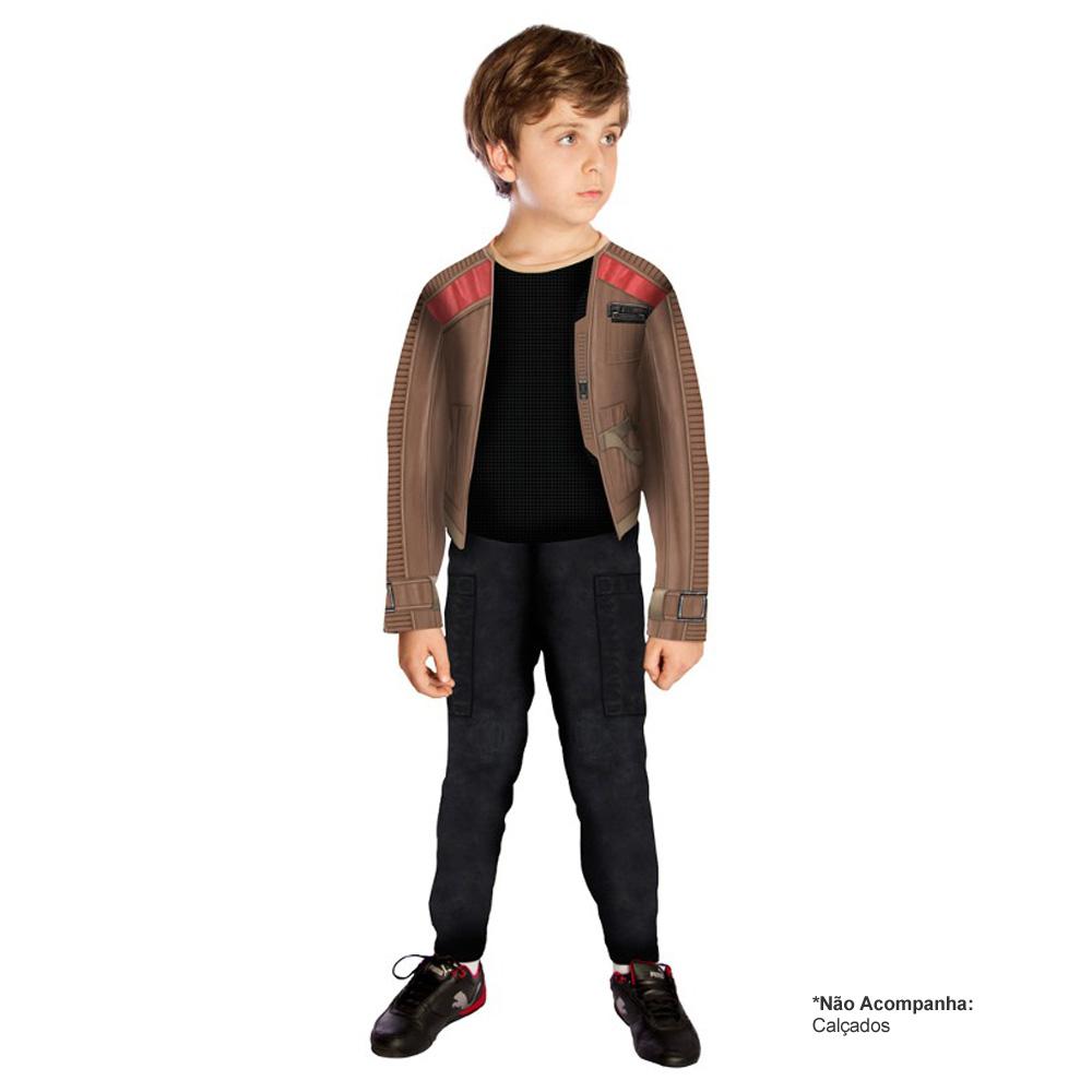Fantasia Longa Finn Star Wars modelo O Despertar da Força - Infantil