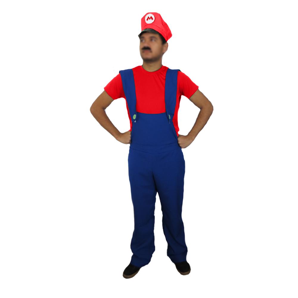 Fantasia Mario Bros Masculino - Adulto