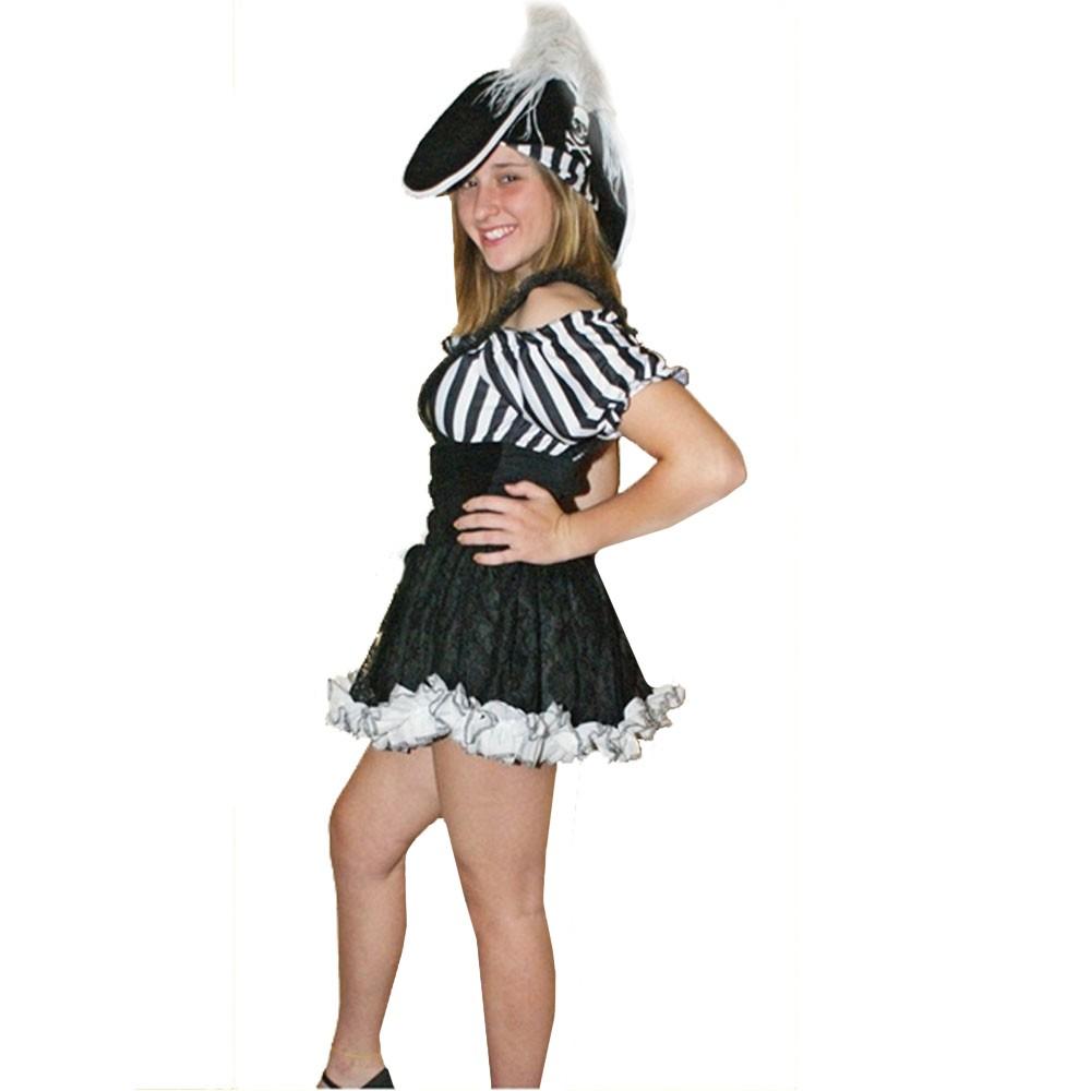Fantasia Pirata Feminina Listrada - Adulto