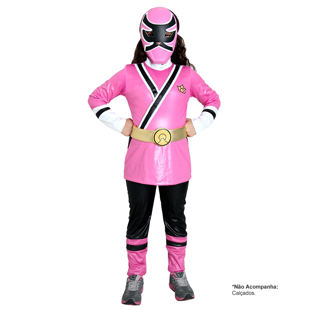 Fantasia Power Rangers Samurai Luxo - Infantil