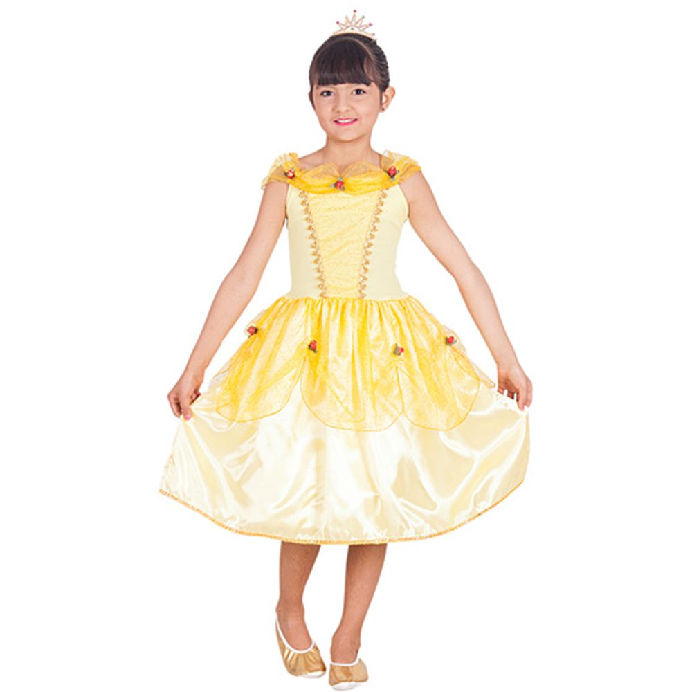 Fantasia Princesa Bela Amarela Emily