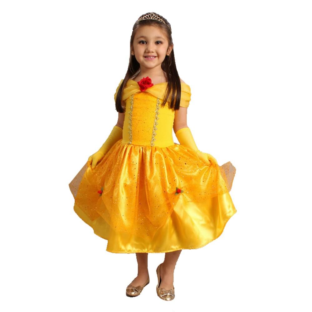 Fantasia Princesa Bela Amarela - Infantil