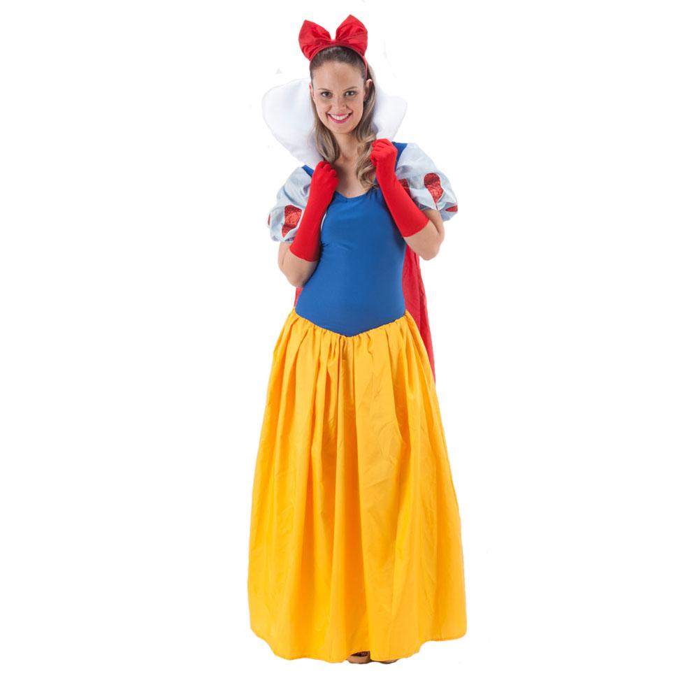 Fantasia Princesa Branca de Neve longa - Adulto