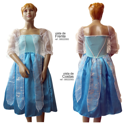Fantasia Princesa do Gelo - Infantil