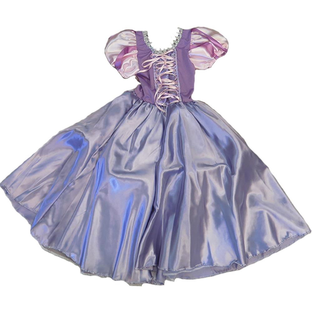 Fantasia Princesa Rapunzel Enrolados - Infantil
