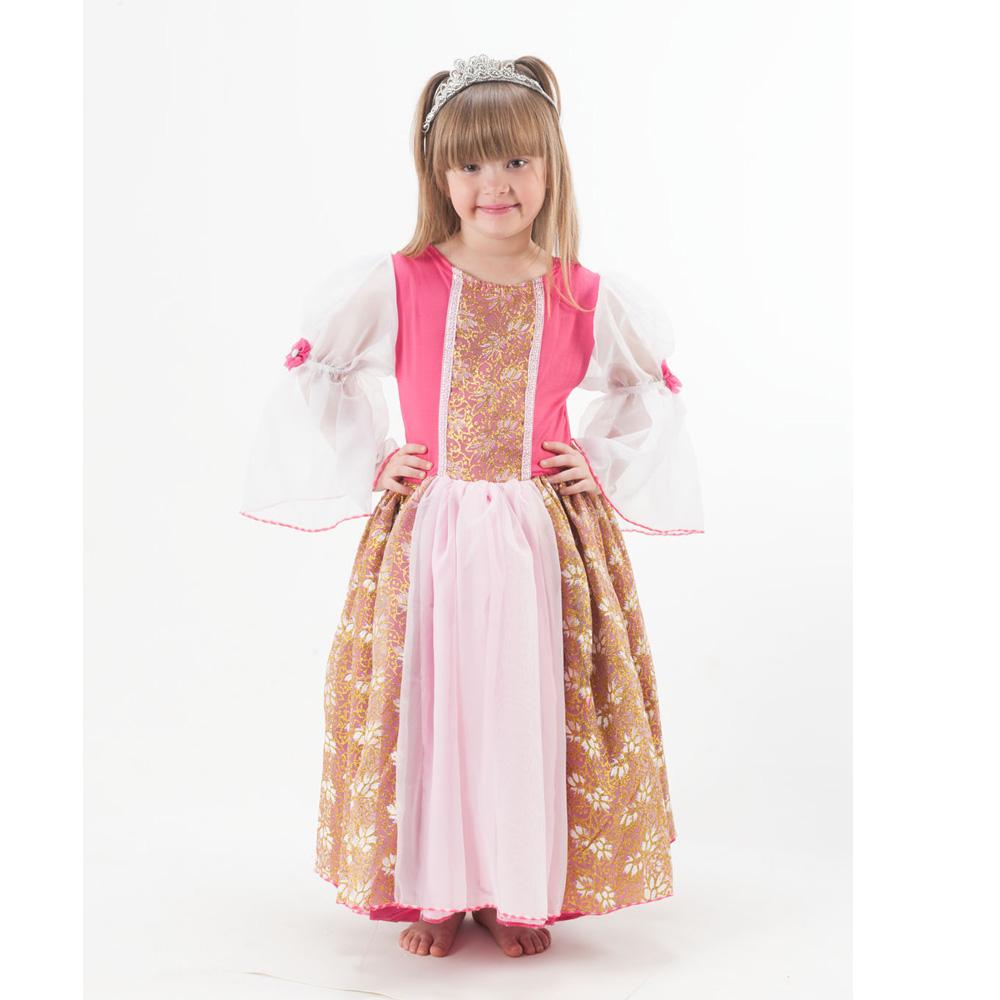 Fantasia Princesa Rapunzel/Rosa Dourado - Infantil
