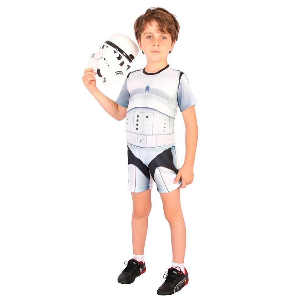 Fantasia StormTrooper Star Wars Curto - Infantil