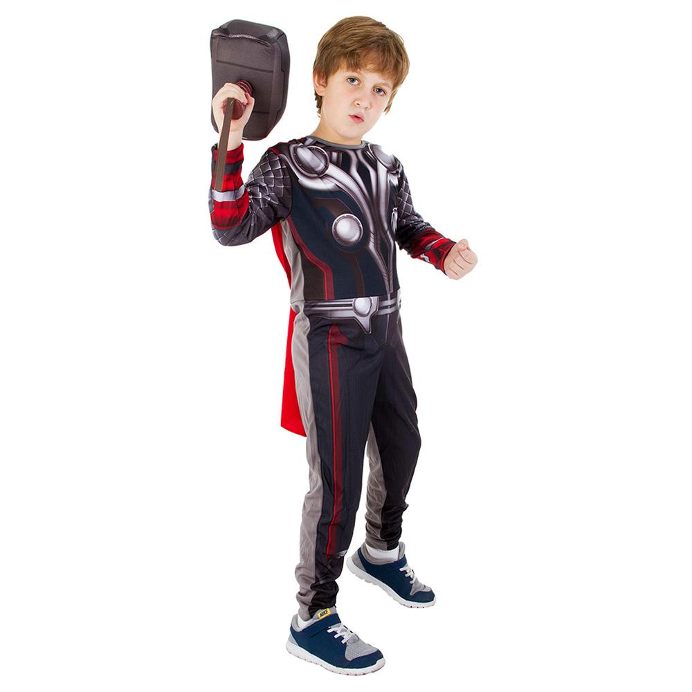 Fantasia Thor 2 com Martelo modelo Longo - Infantil