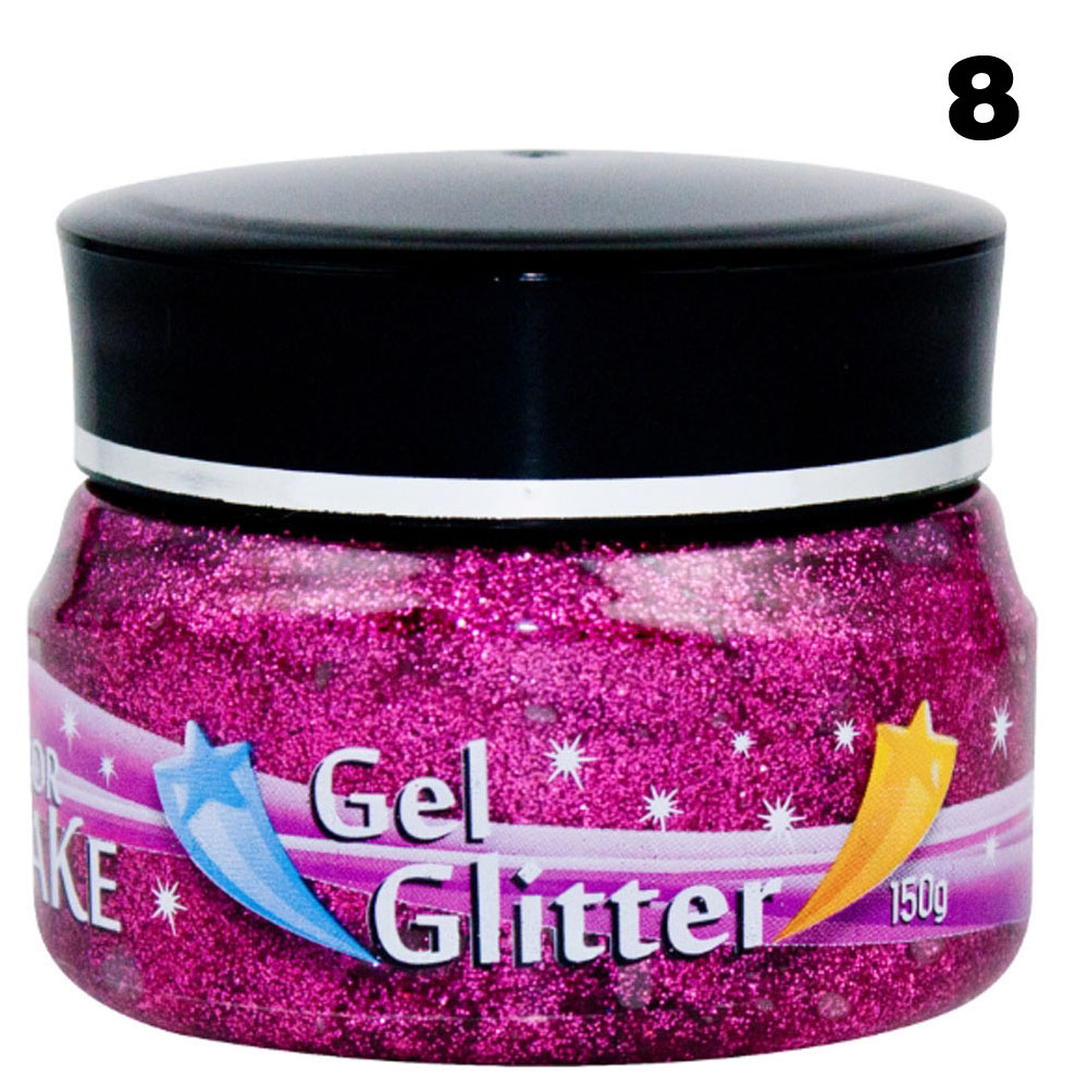 Gel de cabelo com Glitter Pote com 150gr - Color Make