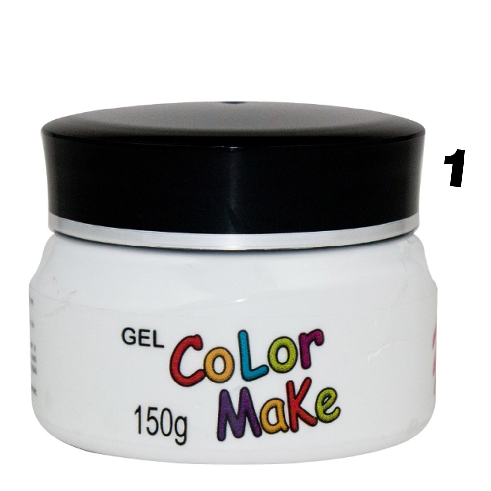 Gel de cabelo Fluorescente Pote com 150gr - Color make