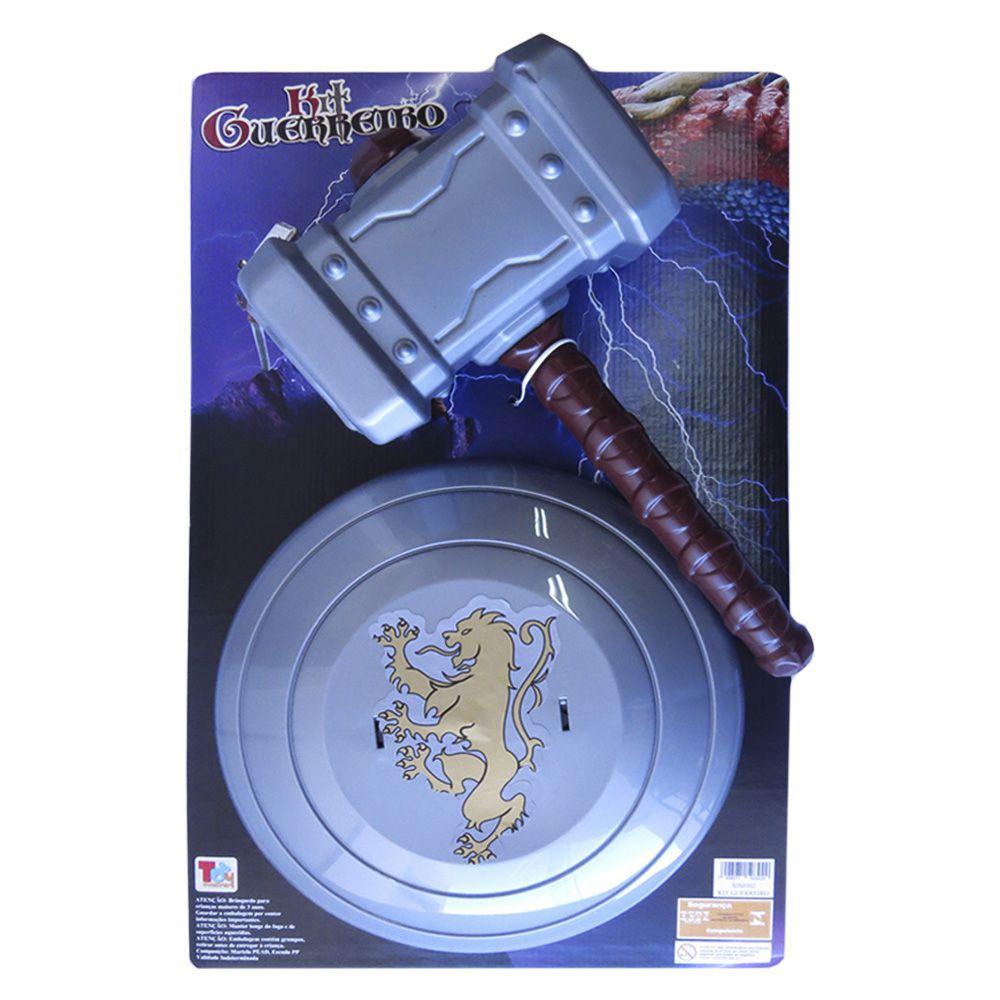 Kit Martelão com Escudo Thor - Kit Guerreiro Leão
