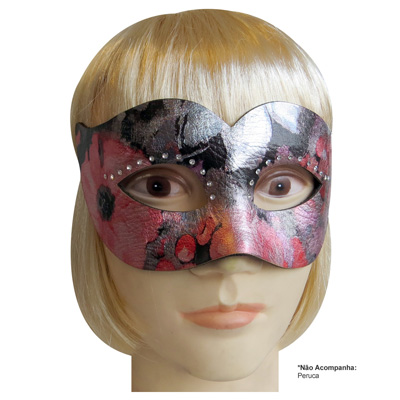 Máscara de Carnaval modelo Aquarela - Adulto