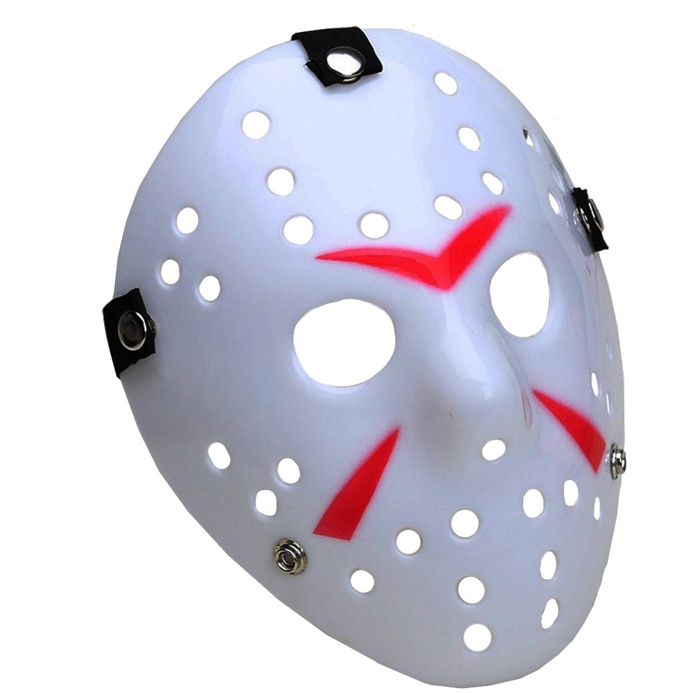 Máscara Jason Branca e Vermelha