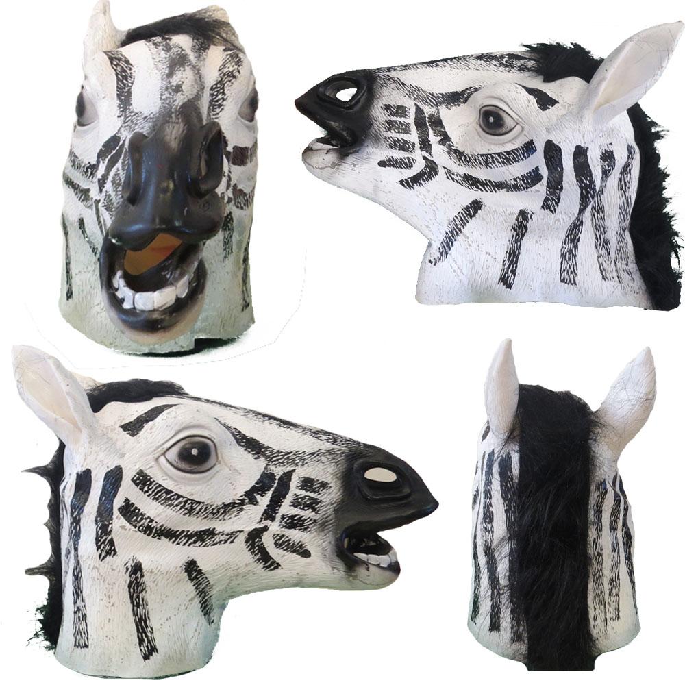 Máscara Zebra de látex
