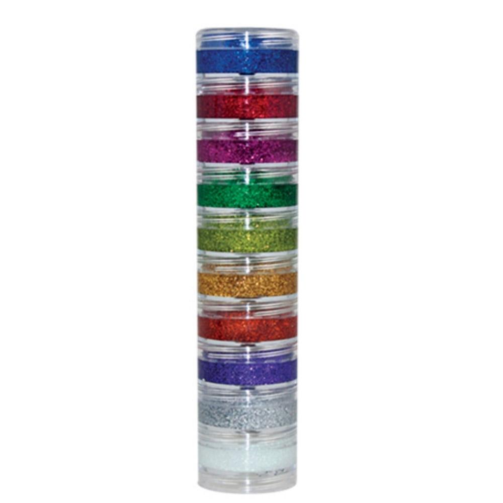 Pintura Creme Glitter Cremoso Kit 10 Cores - Color Make