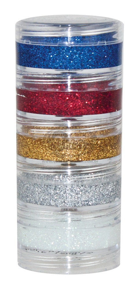 Pintura Creme Glitter Kit 5 Cores de 4gr - Color Make