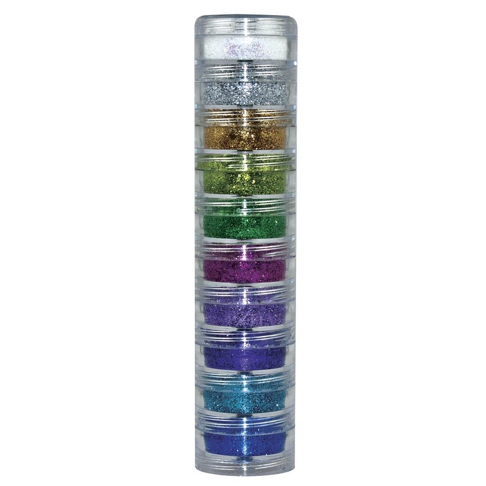 Pintura Pó Glitter Kit 10 Cores - Color Make