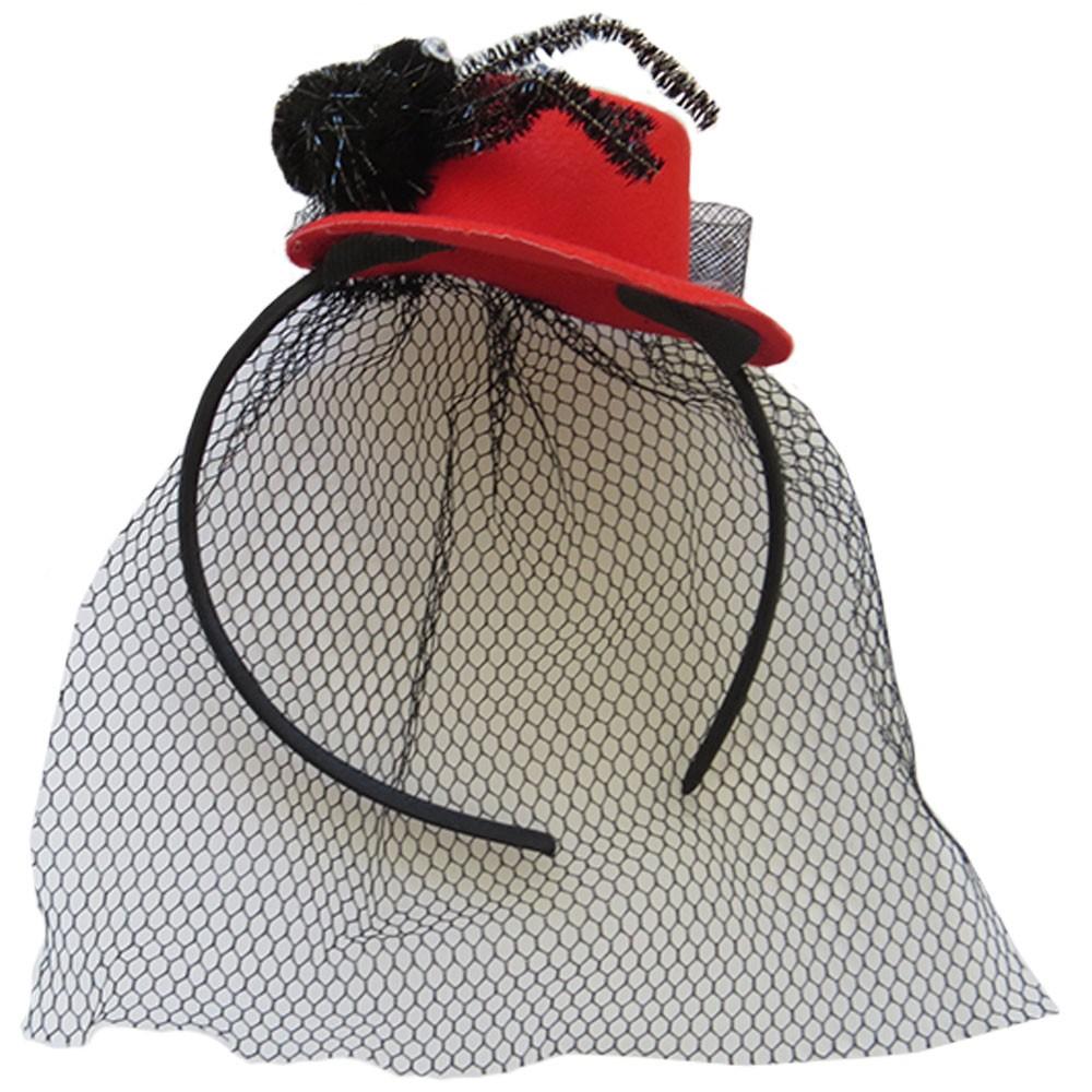 Tiara Aranha Chapéu Com Véu