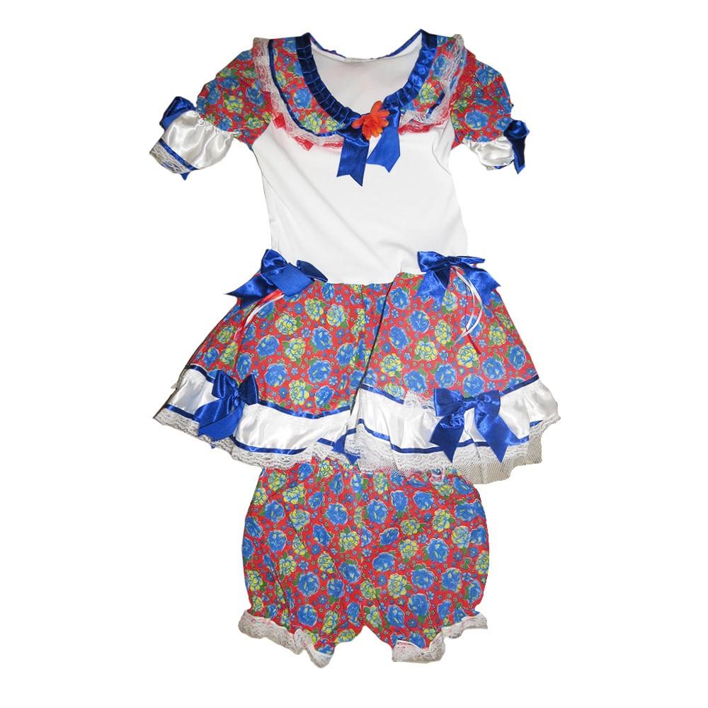 Vestido Caipira Rubi Festa Junina - Infantil