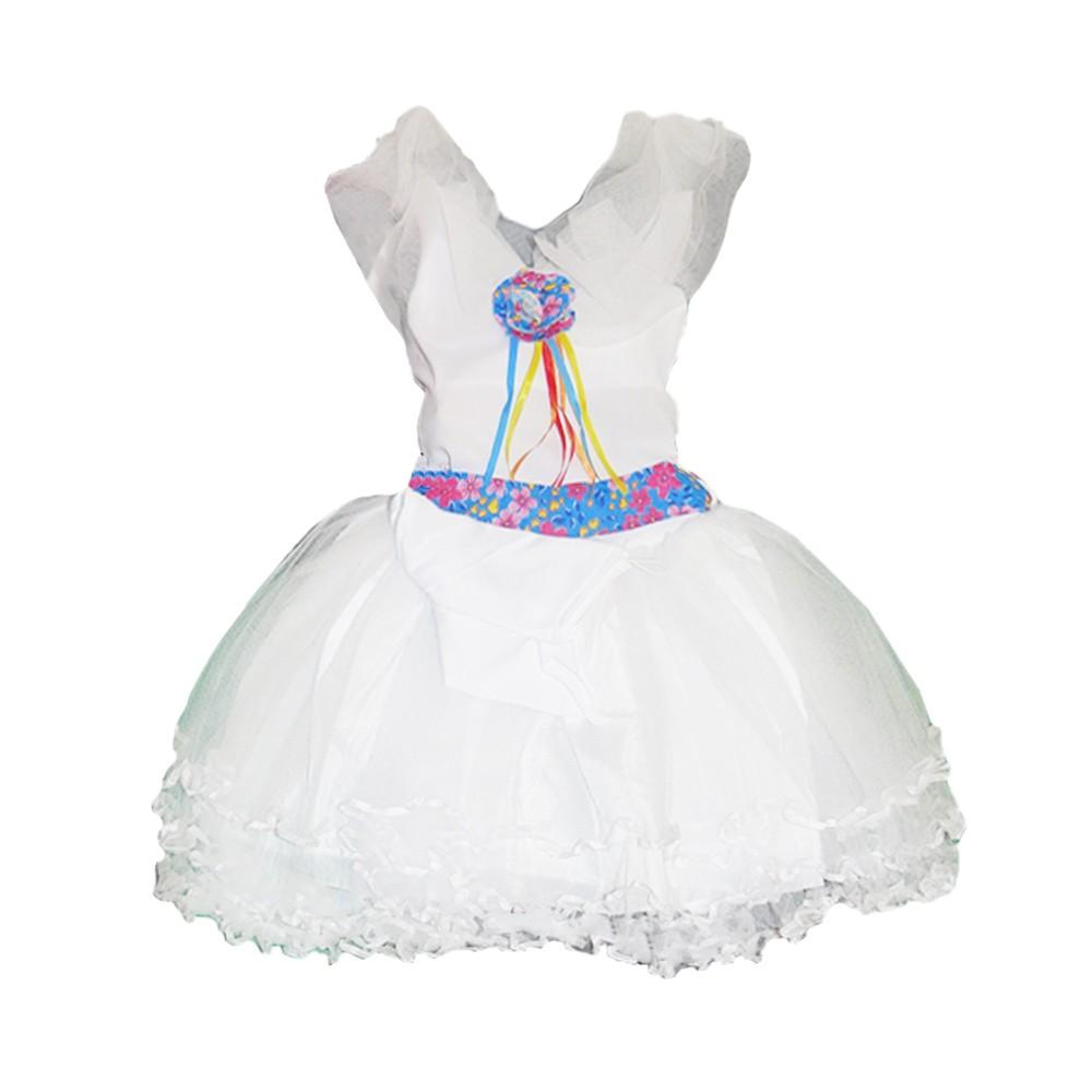 Vestido Noiva Caipira Festa Junina - Infantil