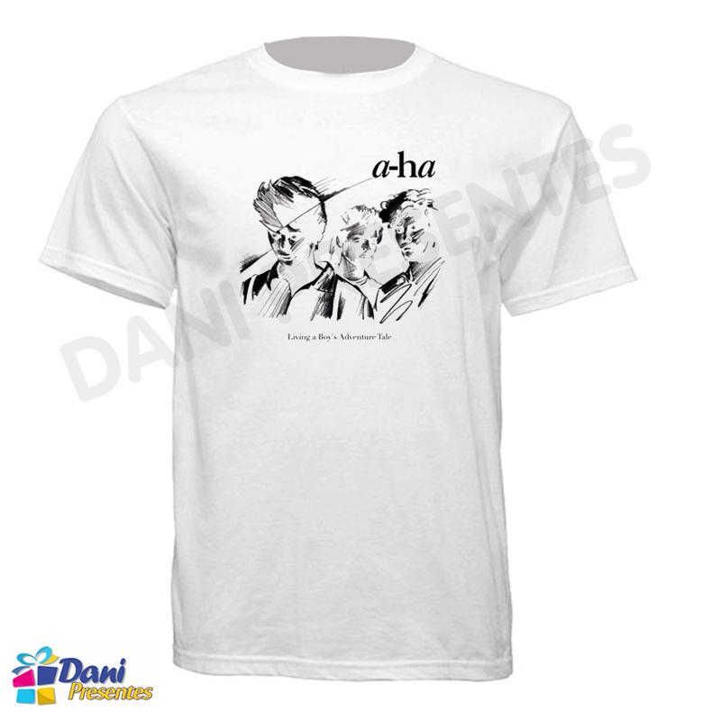 Camiseta A-ha Living a Boys Adventure Tale - 100% Algodão